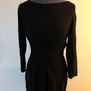 Express Paneled Black ZIP Back Dress